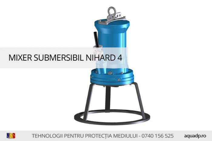 Mixer submersibil pentru apa uzata.