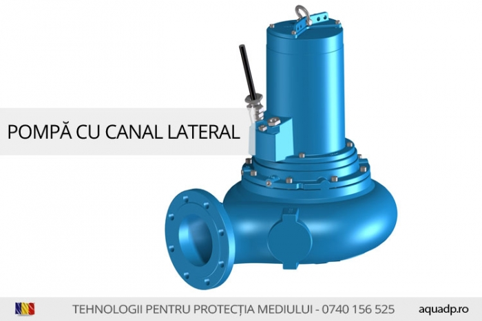Pompa cu canal lateral.