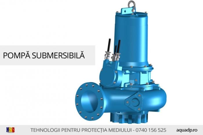 Pompa submersibila pentru debite mari.