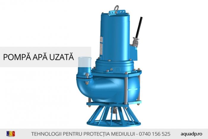 Pompa submersibila pentru ape uzate.