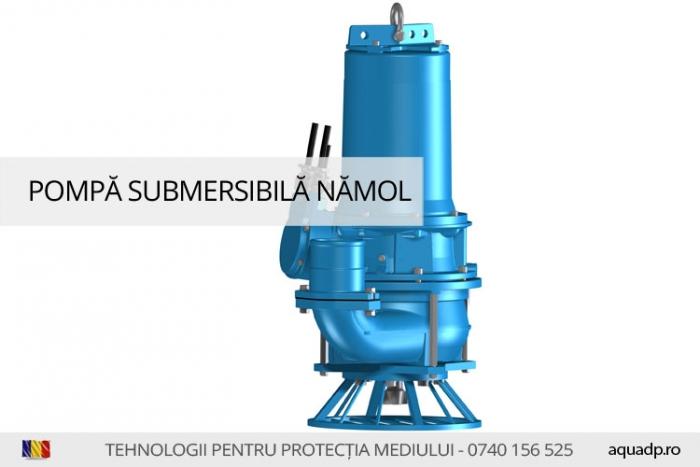 Pompa submersibila pentru namol si ape uzate foarte murdare.