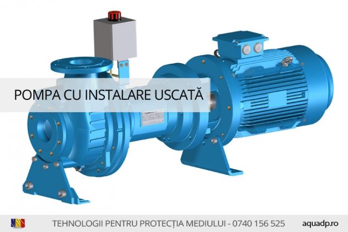 Pompa apa uzata cu instalare uscata.