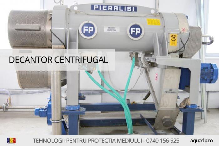 decantor centrifugal folosit in deshidratarea namolului